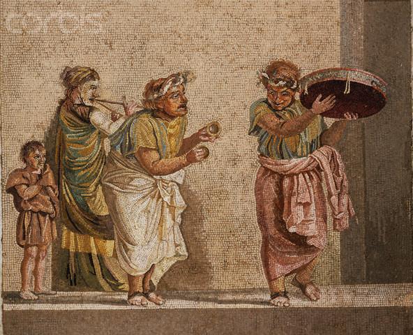 Roman street musicians